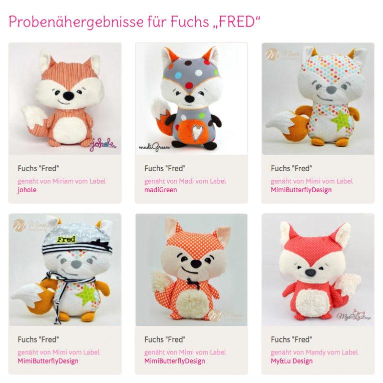 """Nähanleitung Fuchs """"FRED"""": Probenähergebnisse"""
