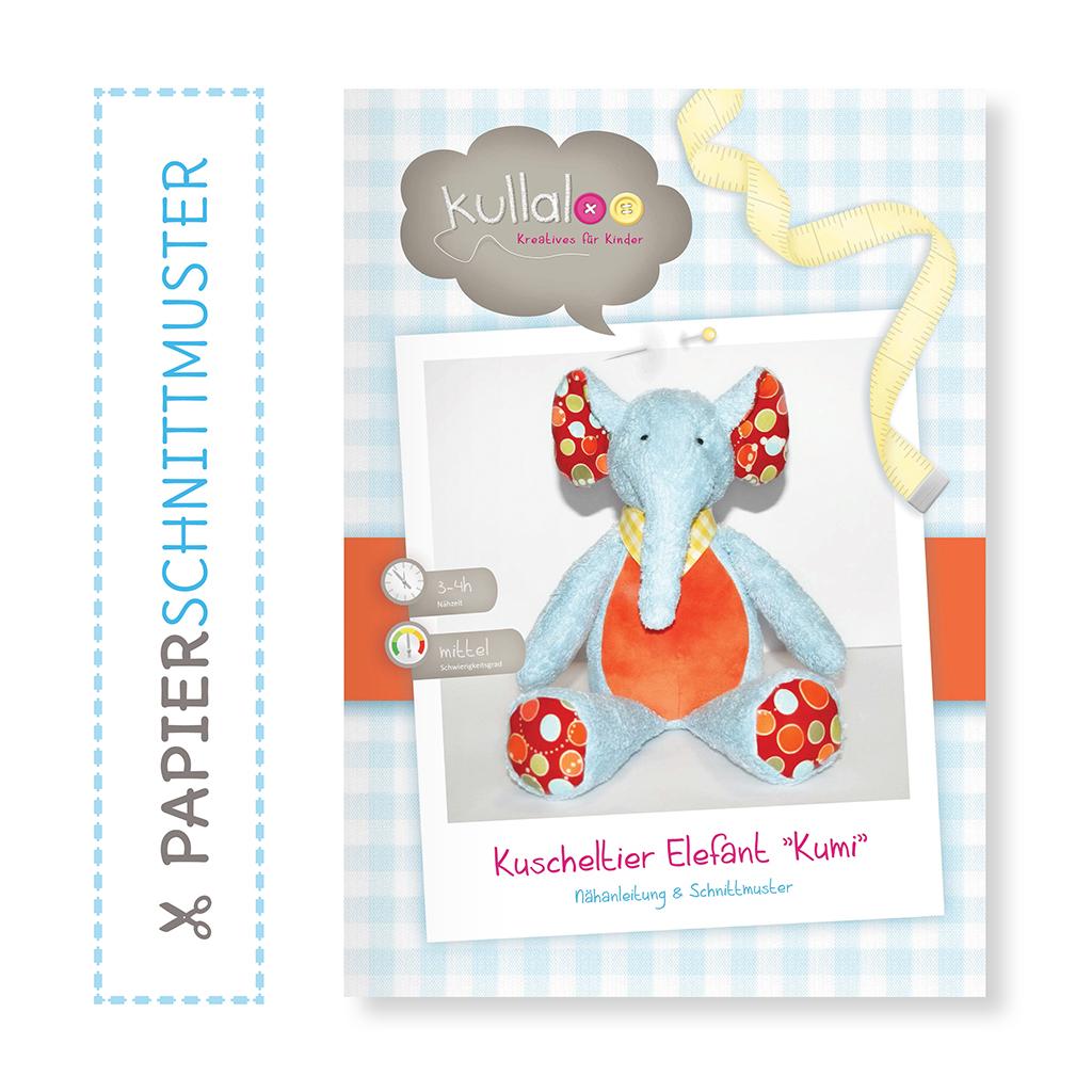 "Elefant Nähanleitung: Papierschnittmuster ""KUMI"" | kullaloo"