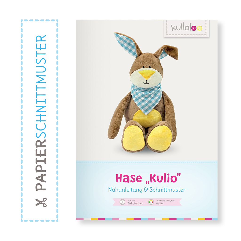 "Hase Nähanleitung: Papierschnittmuster ""KULIO"""