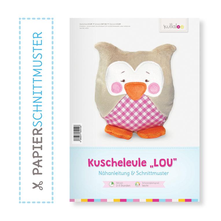 """Papierschnittmuster Nähanleitung Eule """"LOU"""""""
