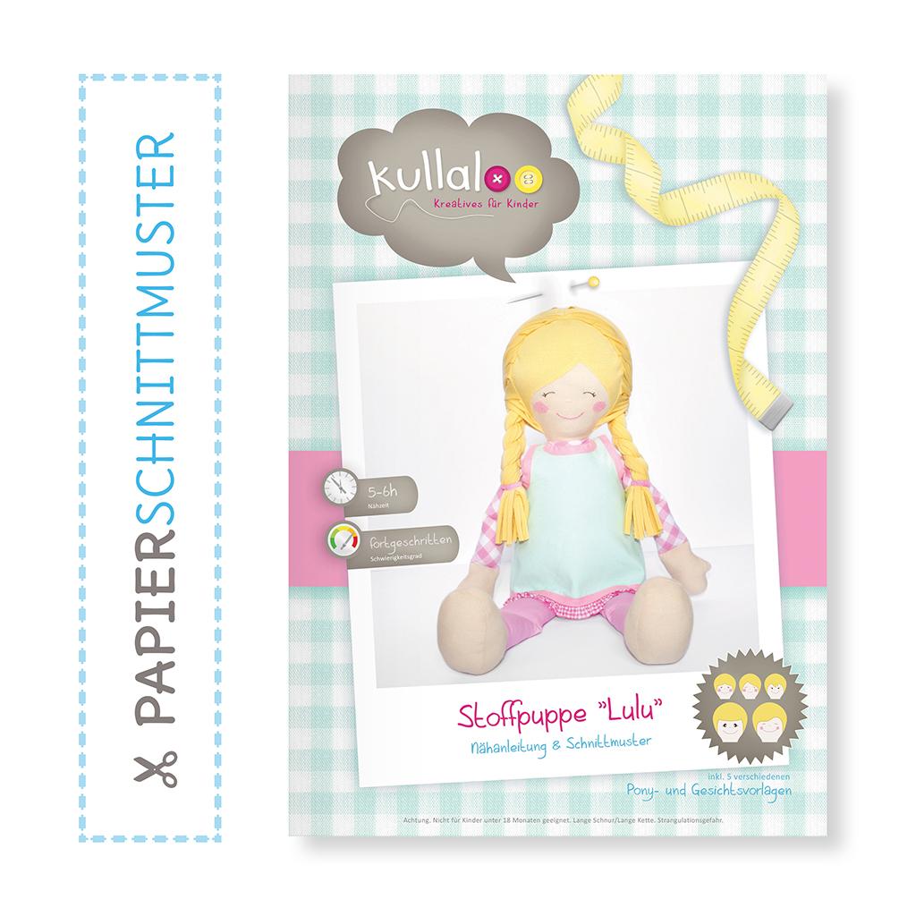 """Puppe nähen: Papierschnittmuster Puppe """"LULU"""" Nähanleitung"""