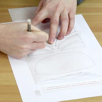 Handyladetasche Anleitung: Auf Vliesofix abpausen