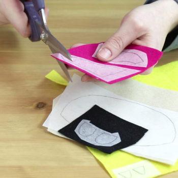 Handyladetasche Anleitung: Vliesofix-Stücke zuschneiden