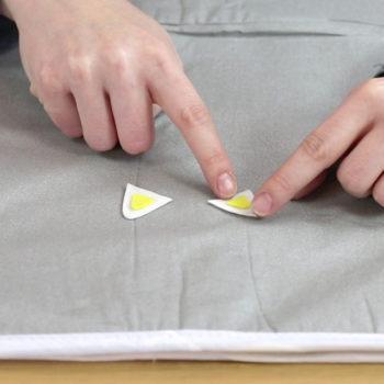 Handyladetasche Anleitung: Ohrinnenteile aufbügeln