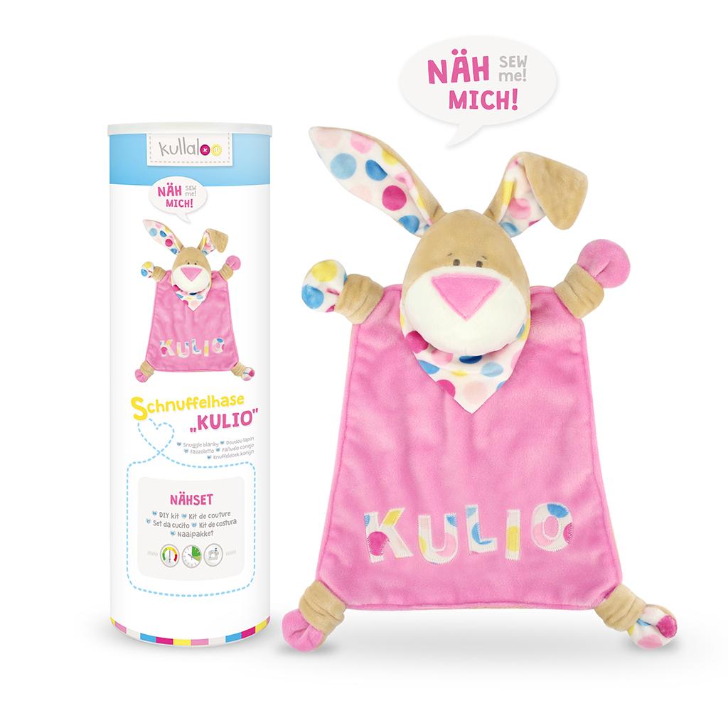 """Nähset Schnuffeltuch Hase """"KULIO"""" beige/rosa"""