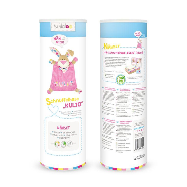 """Nähset Schnuffeltuch Hase """"KULIO"""": Dosenverpackung"""