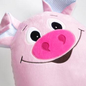 """Plüsch applizieren: Beispiel Gesicht Schwein """"LANDOLIN"""""""