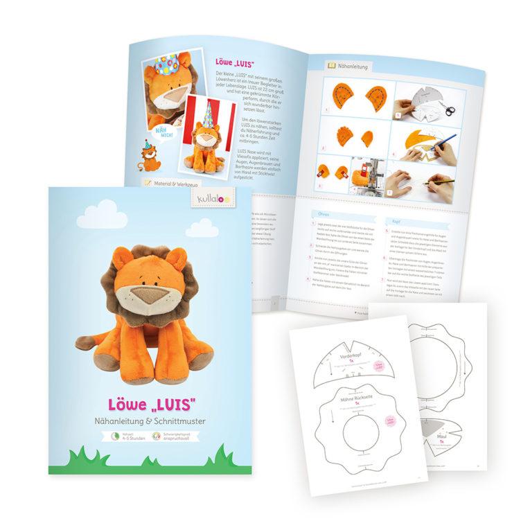 """Anleitung zum Löwe nähen – Kuschelfreund """"LUIS"""""""