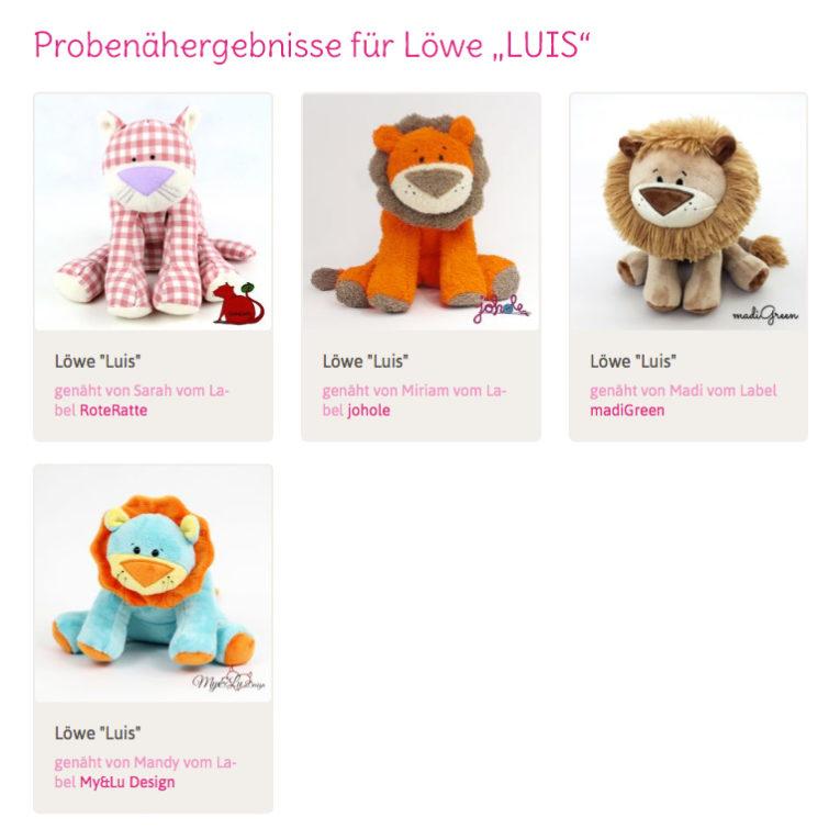 "Schnittmuster Löwe ""LUIS"" – Nähbeispiele"