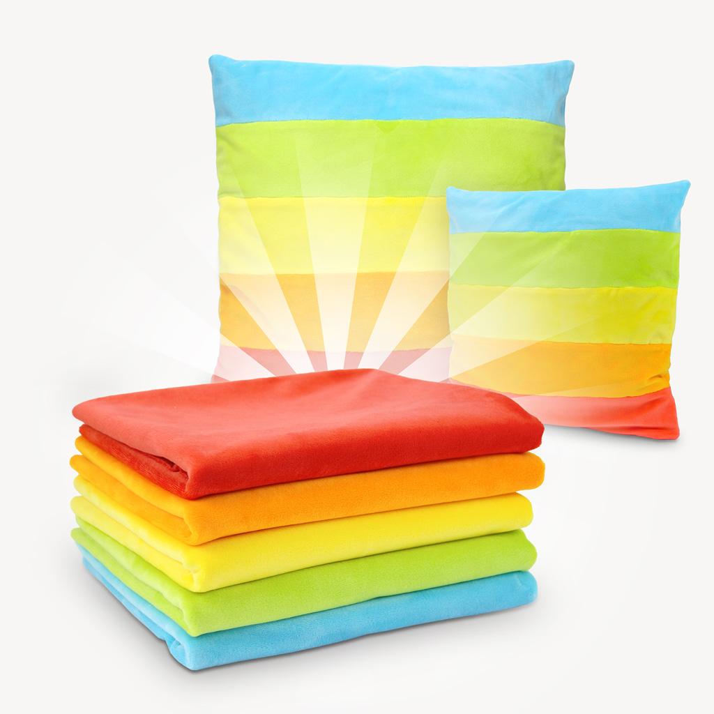 """Stoffpaket """"Regenbogen"""" mit 5 Plüsch Farben à 60x75 cm"""