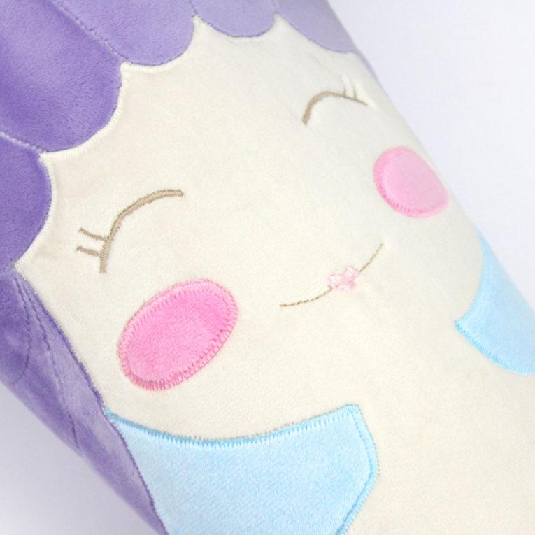 Schnittmuster Schultüte nähen: Gesicht von Meerjungfrau LUNIA