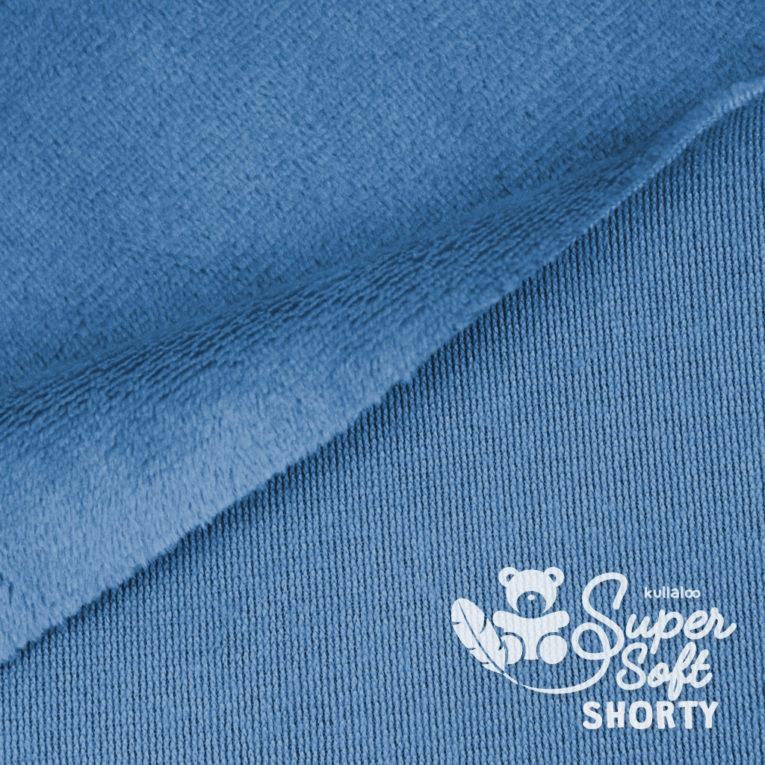 Plüschstoff rauchblau - SuperSoft SHORTY