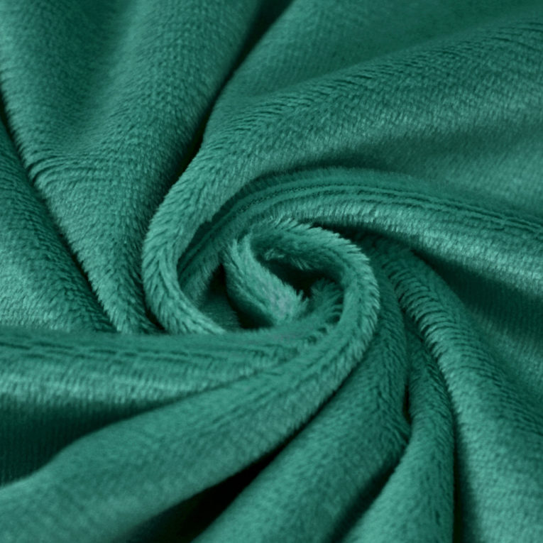 Microfaser Plüschstoff grün / dunkelgrün /smaragd - SuperSoft SHORTY
