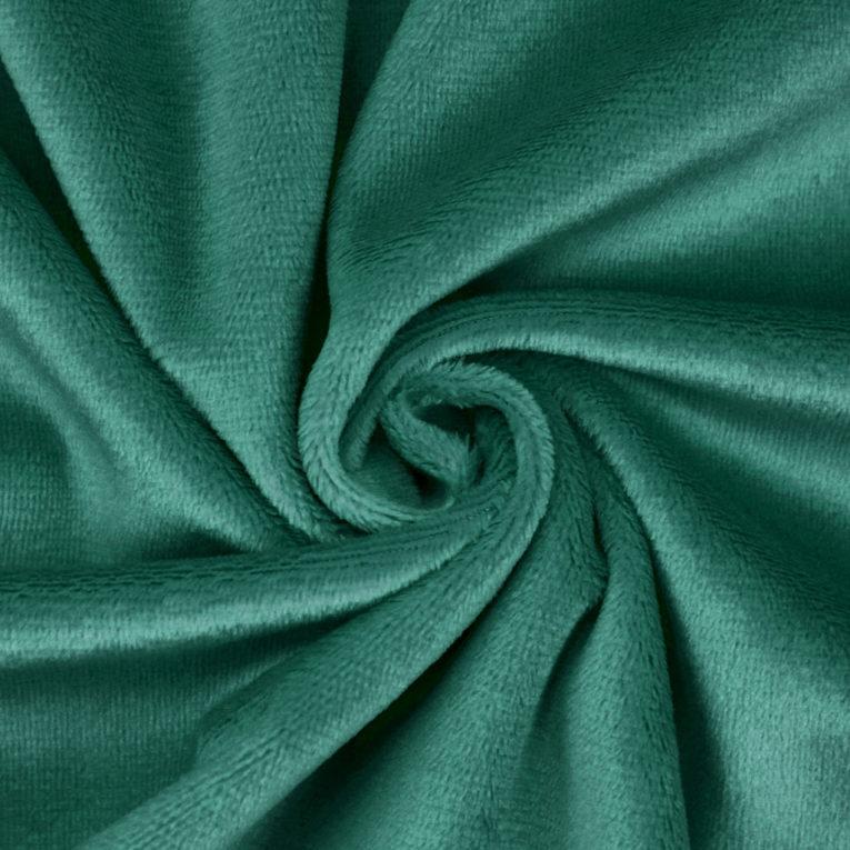 Meterware Plüschstoff grün / dunkelgrün /smaragd - SuperSoft SHORTY
