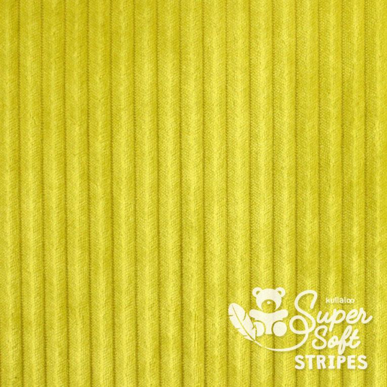 Plüschstoff mit Streifen-Struktur senfgelb - SuperSoft STRIPES