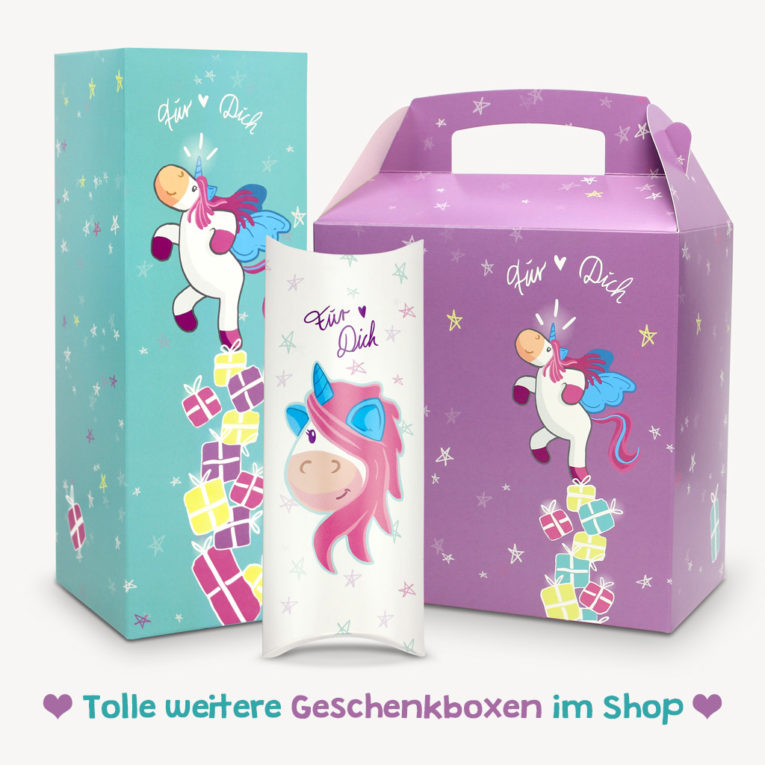 Geschenkboxen Set Einhorn