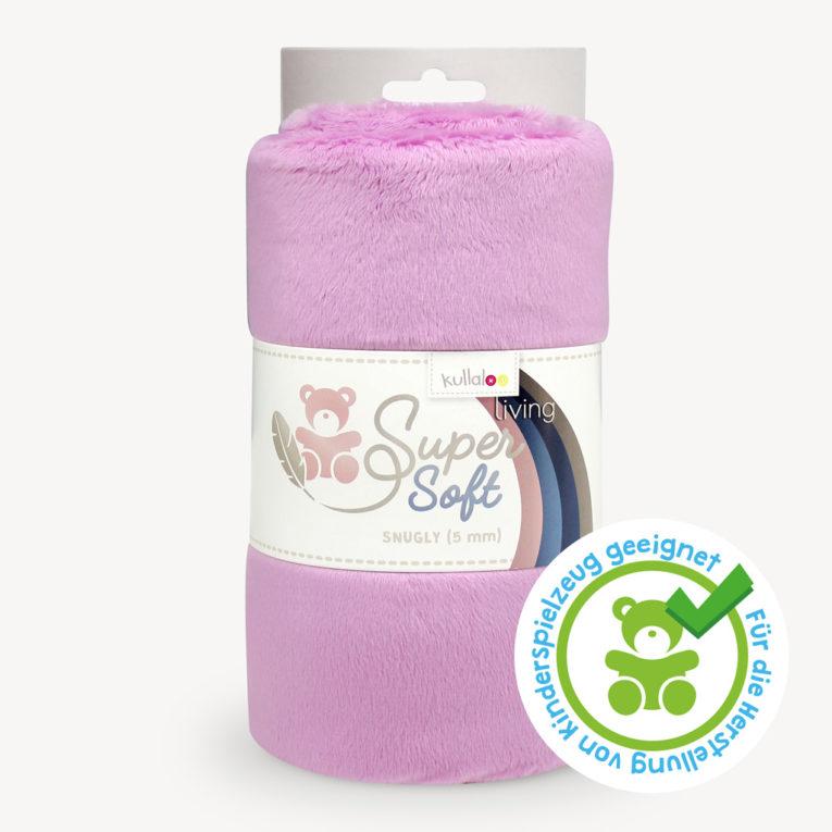 Kurzhaar Plüsch Stoff mauve / rot-violett - SuperSoft SNUGLY