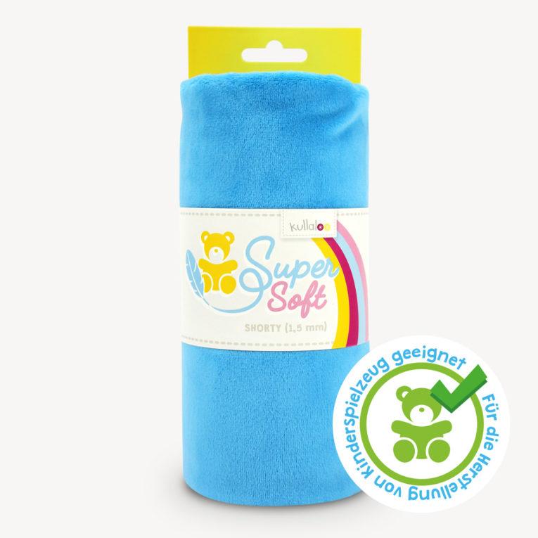 Minky Stoff blau - SuperSoft SHORTY