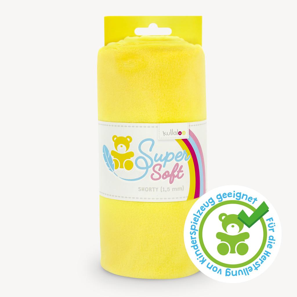Minky / Microfaser Plüschstoff gelb - SuperSoft SHORTY