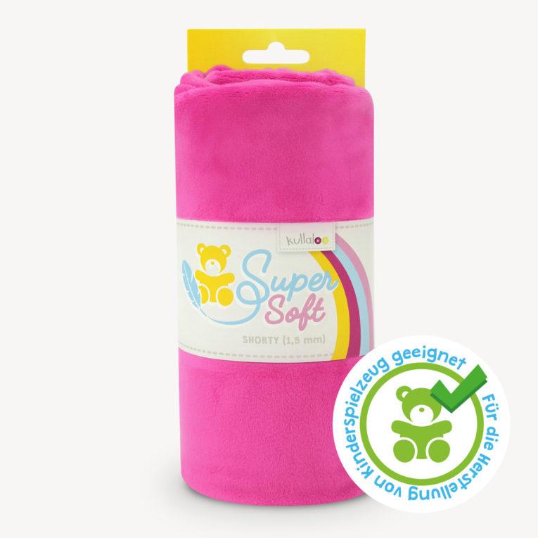 Minky / Microfaser Plüschstoff pink - SuperSoft SHORTY