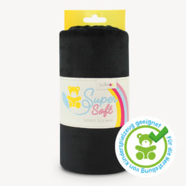 Minky Stoff schwarz - SuperSoft SHORTY
