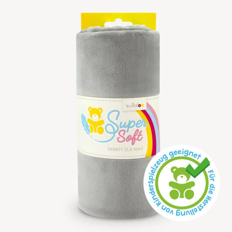 Plüschstoff grau SB-Pack - SuperSoft SHORTY