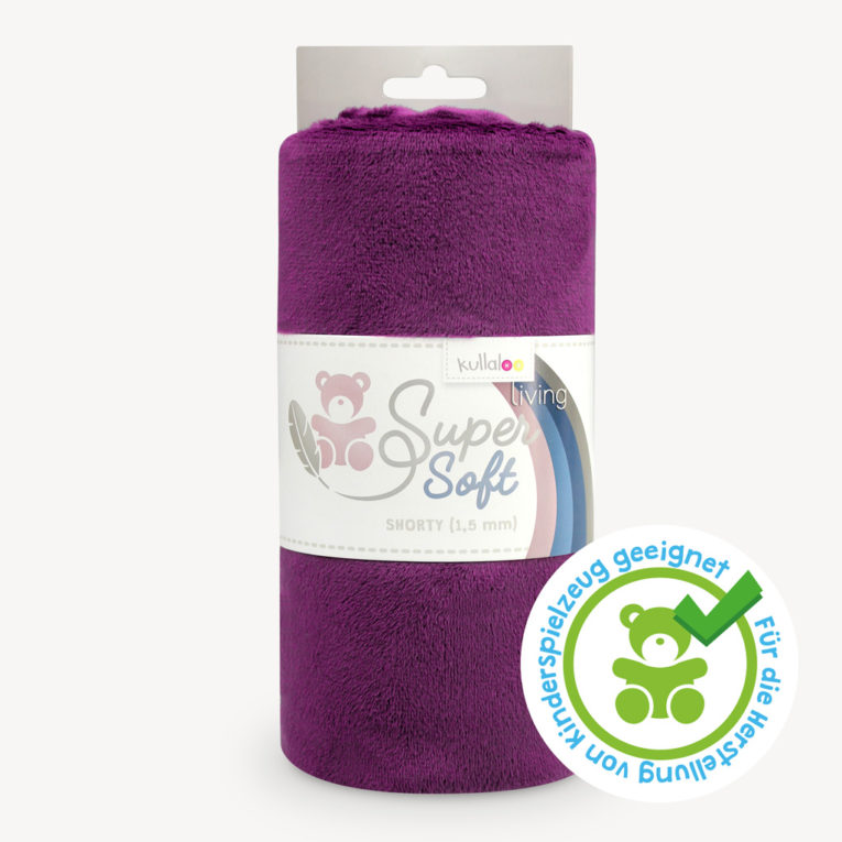 Minky Plüschstoff pflaume - SuperSoft SHORTY