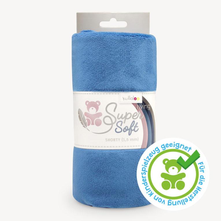 Minky Plüschstoff rauchblau / dusk blue - SuperSoft SHORTY