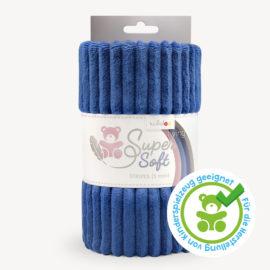 Streifen Minky Stoff dunkelblau - Plüschstoff SuperSoft STRIPES