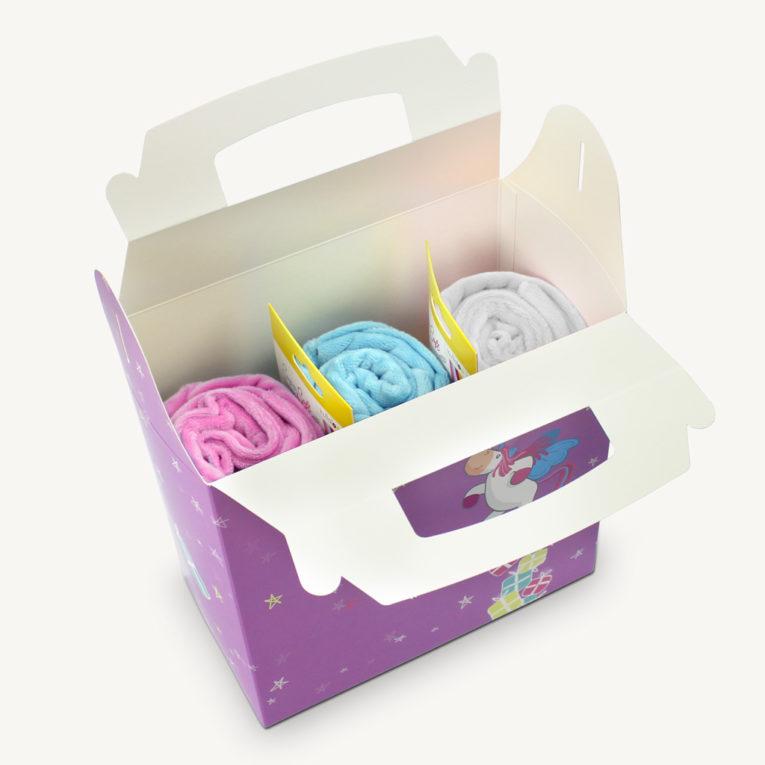 """Geschenk für Nähfans: Stoff Banderolen """"rosa blau weiß"""""""