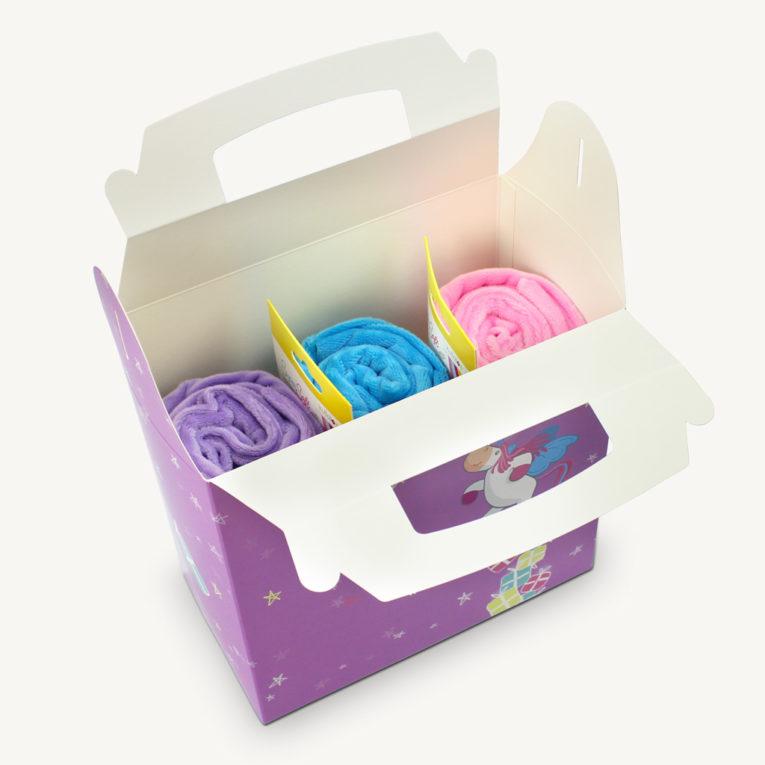 Geschenkverpackung Einhorn / Geschenktüte für Kinder oder Stoffliebhaber