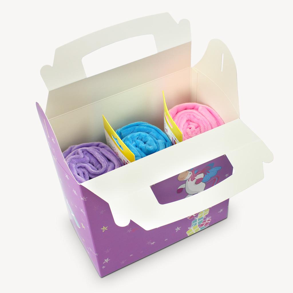 Geschenkbox kinder mit tragegriff und s em einhorn motiv kullaloo - Einhorn geschenkverpackung ...