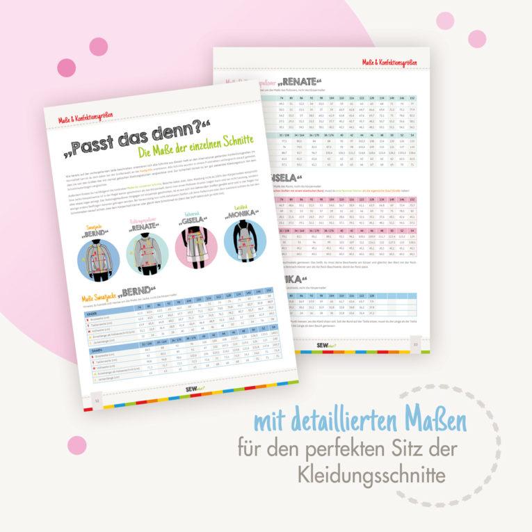 Nähzeitschrift SEWwhat? 2017 byGraziela Special Edition: Mit detaillierten Maßen