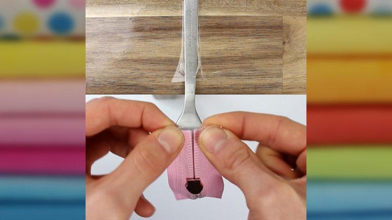 Quick Tip: Schieber auf Endlosreißverschluss fädeln