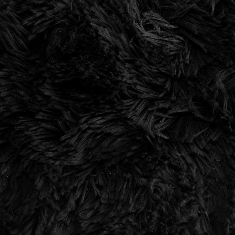 Zottelplüsch schwarz Meterware