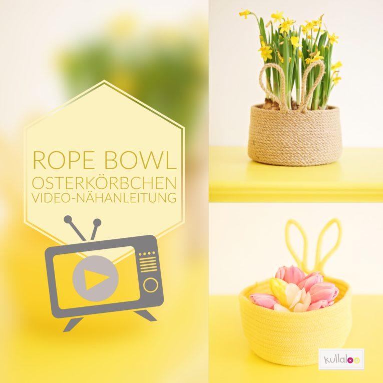 Osterlörbchen selber machen mit der Rope Bowl Technik