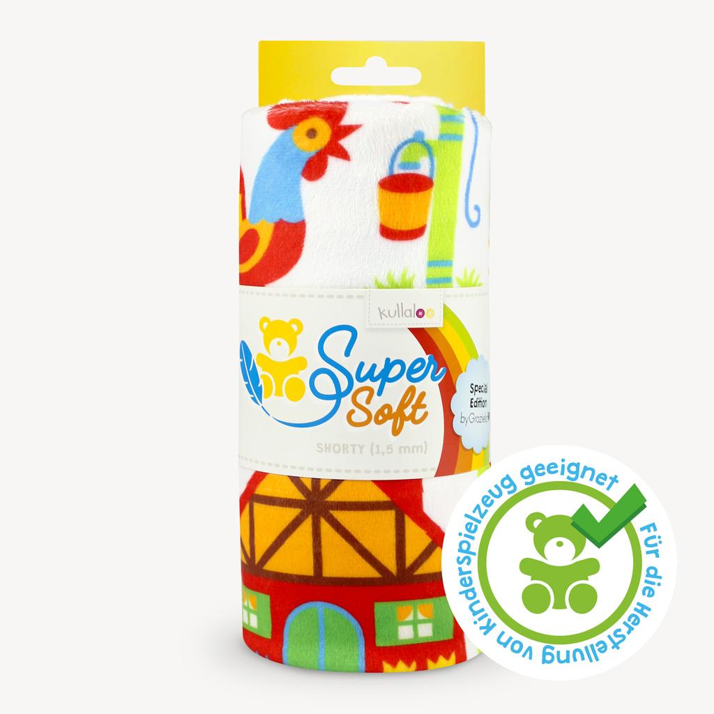 Plüsch Stoff by Graziela Bauernhof - SuperSoft SHORTY, spielzeugtauglich