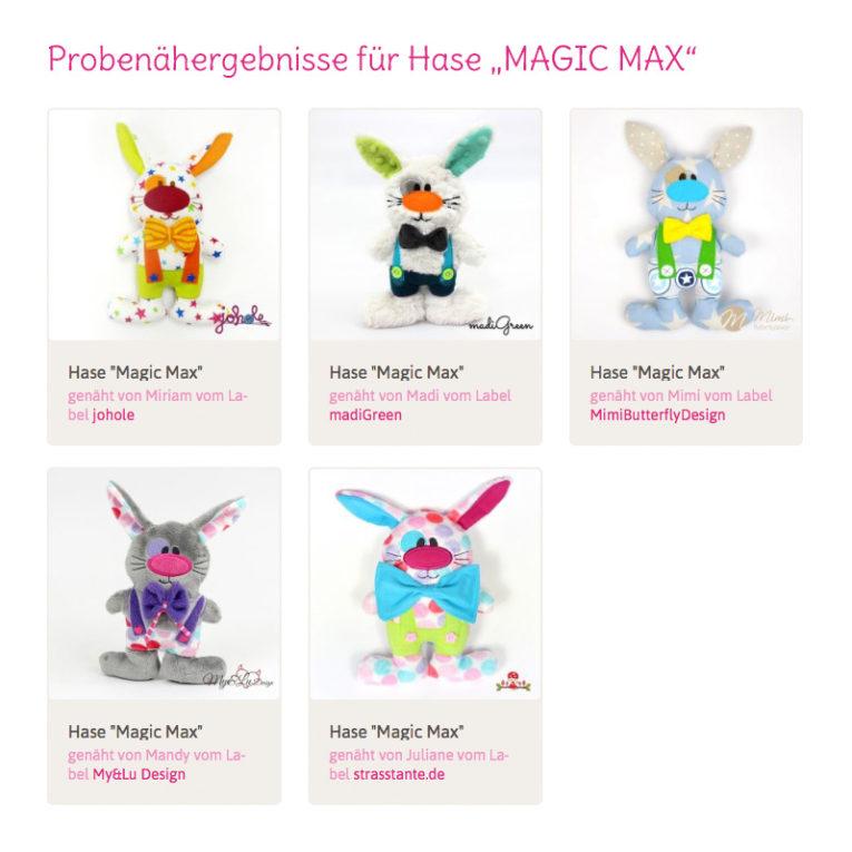 "Selbstgenähter Osterhase ""MAgic Max"": Nähergebnisse"