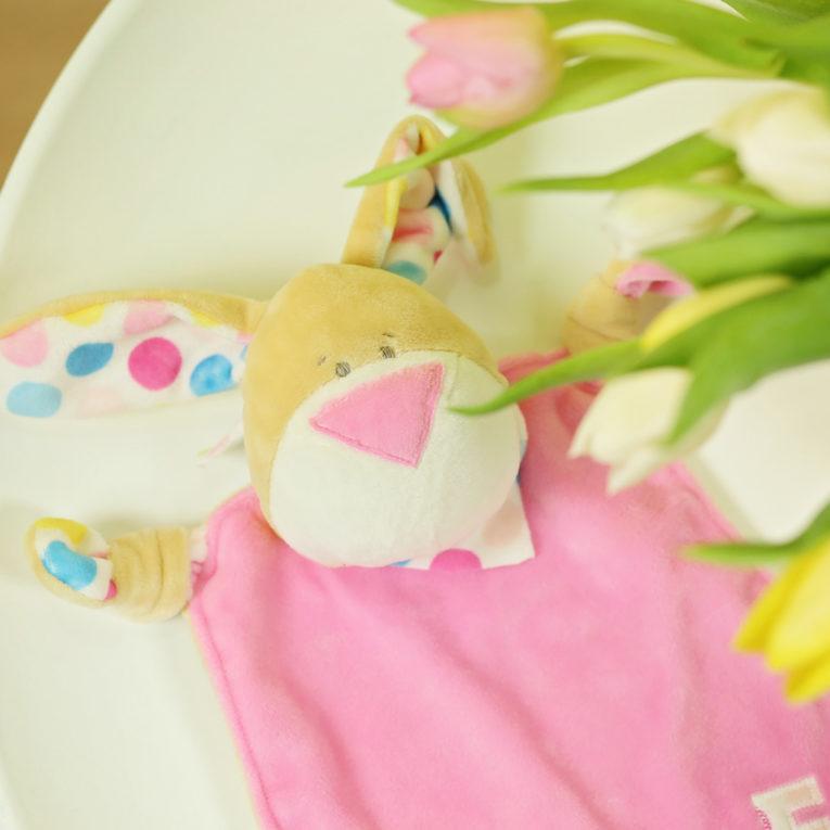 Nähen für Ostern: Schnuffeltuch Hase Kulio