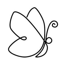 Osterdeko nähen mit Schmetterling Lineart