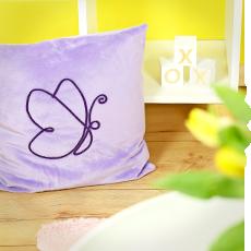 Nähen für Ostern: Lineart Kissen Schmetterling