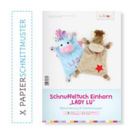 """Papierschnittmuster Einhorn Schnuffeltuch """"Lady Lu"""""""