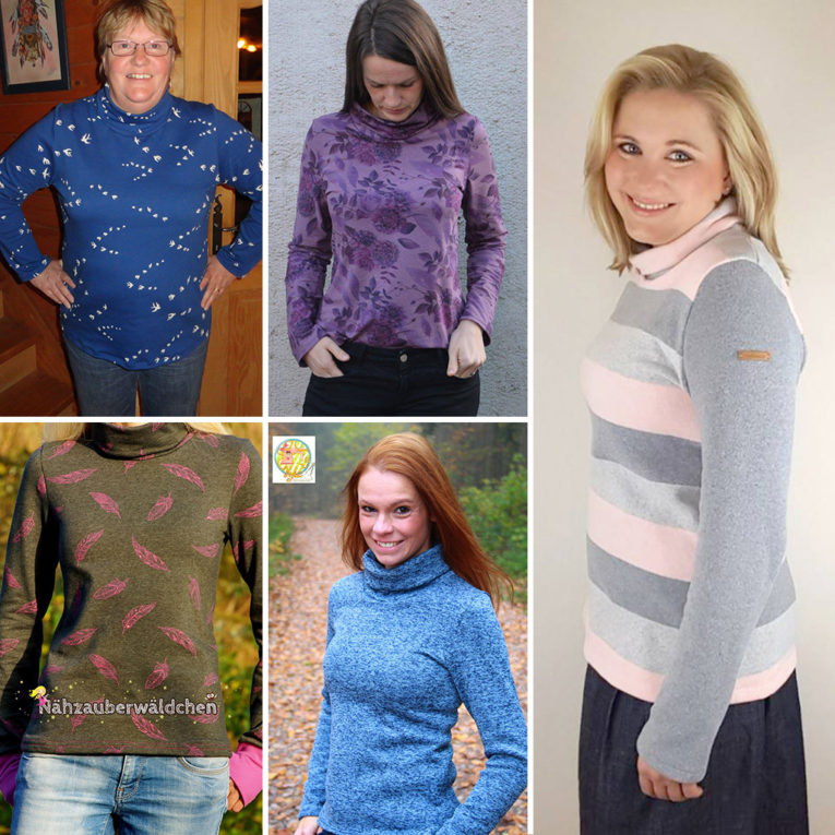 Langarmshirt Damen: Probenähergebnisse