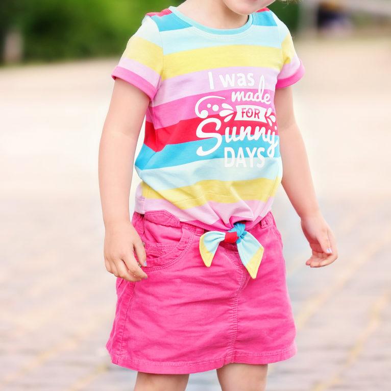 """Babykleidung nähen: Knotenshirt """"JOLLY"""""""