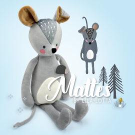 "Maus nähen mit Schnittmuster Maus ""MATTES"" by Lila-Lotta"