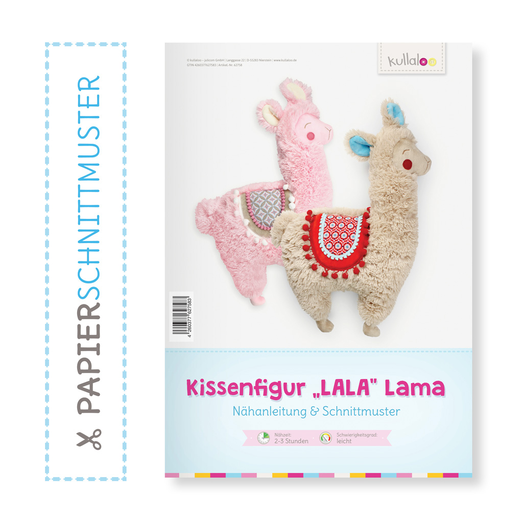 """Papierschnittmuster """"LALA"""" Lama Kissenfigur"""