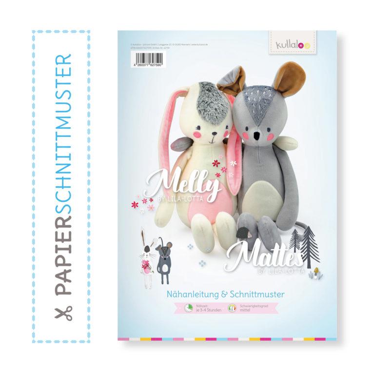 "Papierschnittmuster ""MELLY & MATTES"" by Lila-Lotta"