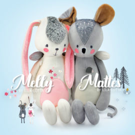 "Schnittmuster Kuscheltiere ""MELLY &MATTES"" by Lila-Lotta"