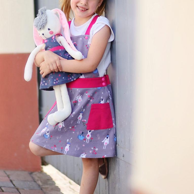 Schnittmuster Partnerlook Kind und Puppe: Kleid
