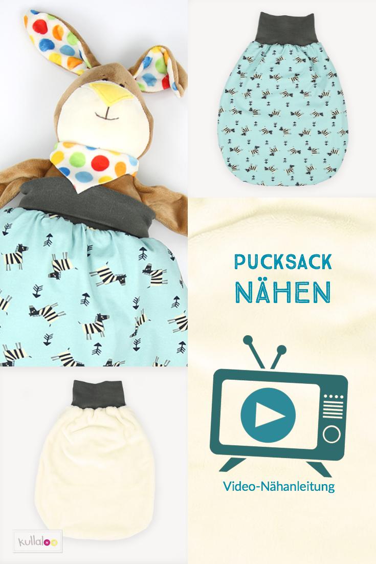Pucksack nähen für Babys